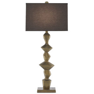 Reginald Antique Brass One-Light Table Lamp