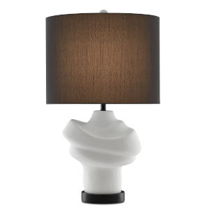 Farina Gesso White and Matte Black One-Light Table Lamp