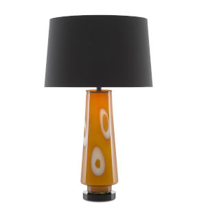 Sunnyhill Caramel and Glossy Black One-Light Table Lamp