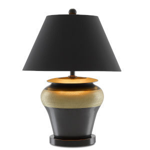 Winkworth Gold and Black One-Light Table Lamp