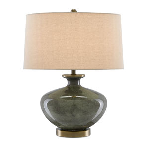 Greenlea Dark Gray and Moss Green One-Light Table Lamp