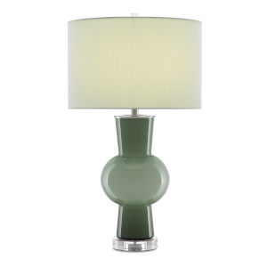 Duende Green and Polished Nickel One-Light Table Lamp