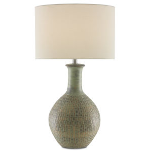 Loro Dark Moss Green and Gold One-Light Table Lamp