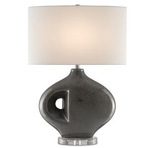 Hellebore Gunmetal and Clear One-Light Table Lamp