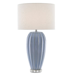 Bluestar Light Blue and Clear One-Light Table Lamp