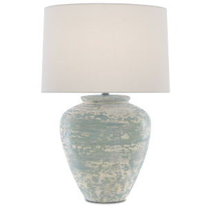 Mimi Aqua and Cream One-Light Table Lamp