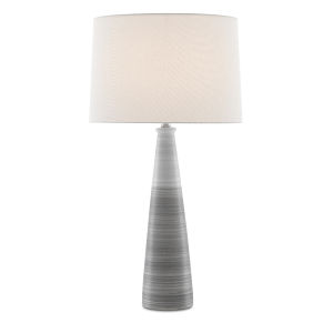 Forefront Gray and White One-Light Table Lamp
