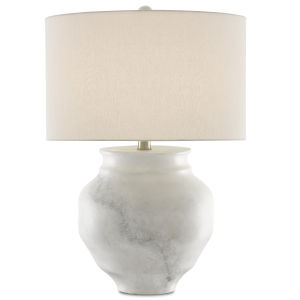 Kalossi Painted White and Gray One-Light Table Lamp