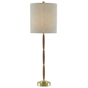 Dashwood Teak and Brushed Brass One-Light Table Lamp