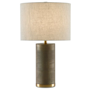 Goddard Antique Brass One-Light Table Lamp
