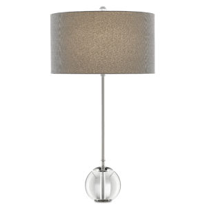 Villanelle Polished Nickel Clear One-Light Table Lamp
