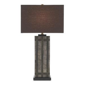 Gregor Natural Black Brass One-Light Table Lamp