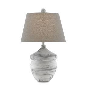 Vitellina White Gray One-Light Table Lamp