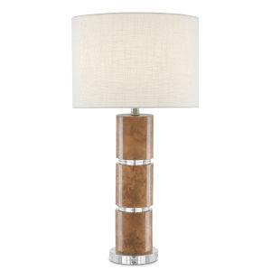 Birdseye Maple Veneer One-Light Table Lamp