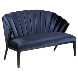 Janelle Ink and Caviar Black Settee
