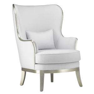 Veronica Muslin and Harlow Silver Chair