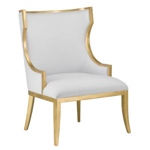 Garson Muslin and Antique Gold Chair