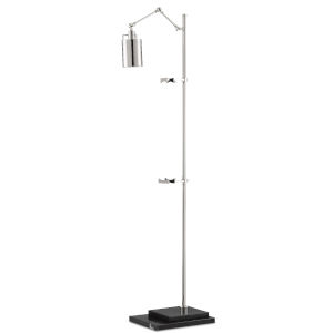 Strada Polished Nickel and Black LED Floor Lamp