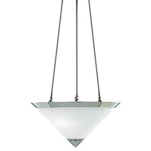 Latimer Polished Nickel and Frosted White Two-Light Pendant
