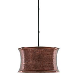Riad Antique Copper and Satin Black One-Light Pendant