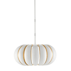 Blanchette Sugar White and Painted Gold One-Light Pendant