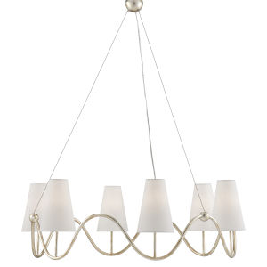 Kadir Silver Granello Six-Light Chandelier