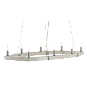 Bannerman Hiroshi Gray and Polished Concrete Eight-Light Chandelier