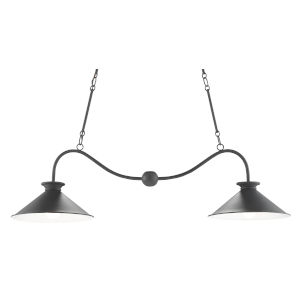 Bartel Black Bronze and Sugar White Two-Light Chandelier