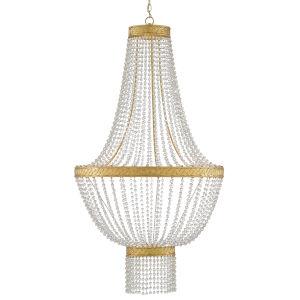 Mirador Contemporary Gold Six-Light Chandelier