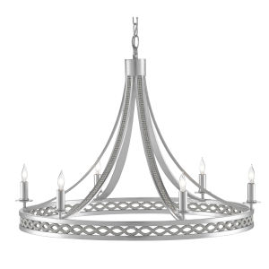 Gavotte Silver Ice Six-Light Chandelier
