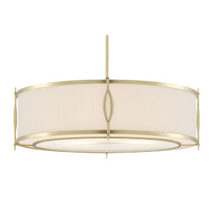 Junia Brushed Brass Three-Light Pendant