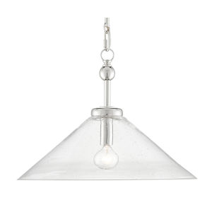 Brightman Polished Nickel One-Light Pendant