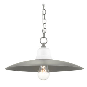 Eastleigh Hiroshi Gray and White One-Light Pendant