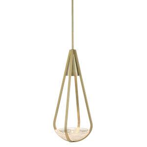 Nefertiti Brushed Brass LED Pendant
