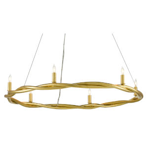 Soliloquy Contemporary Gold Six-Light Chandelier