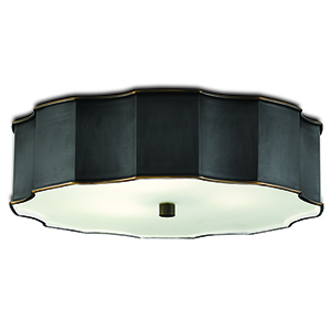 Wexford Oil Rubbed Bronze Three-Light Flush Mount