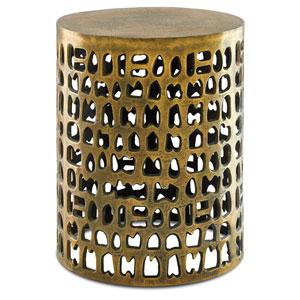 Alvar Antique Gold Accent Table