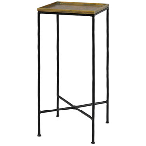 Boyles Black and Antique Brass Accent Table