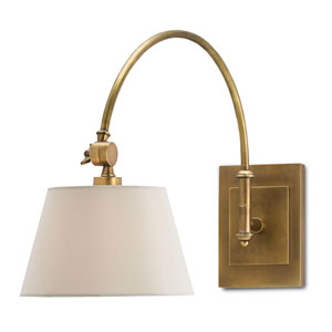 Ashby Antique Brass One-Light Swing-Arm Wall Sconce