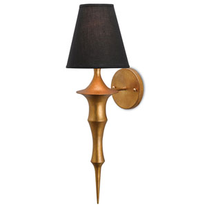 Canto Dark Antique Gold Leaf One-Light Wall Sconce