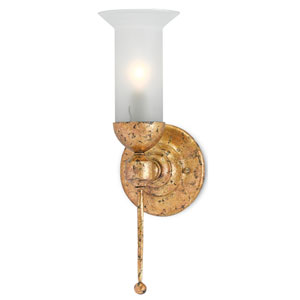 Pristine Gold Leaf One-Light Wall Sconce