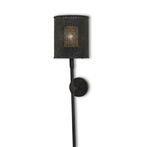 Whitton Mole Black One-Light Wall Sconce