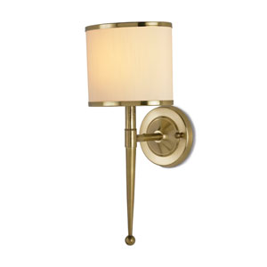 Primo Brass One-Light  Plug In Wall Sconce