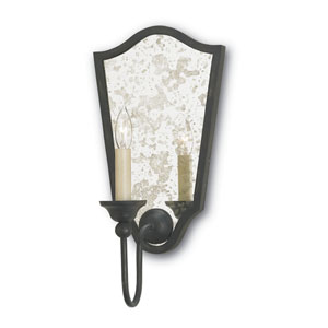 Marseille French Black 9-Inch One-Light Wall Sconce
