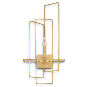 Metro Gold Leaf One-Light Right Wall Sconce