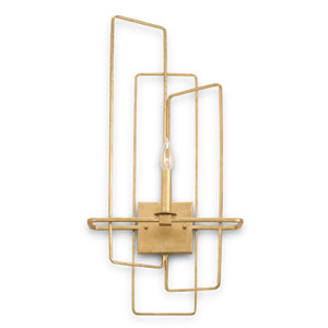 Metro Gold Leaf One-Light Left Wall Sconce