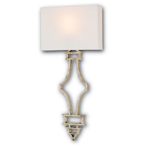 Eternity Silver Granello One-Light Fluorescent Wall Sconce