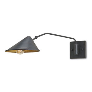 Serpa French Black 8-Inch One-Light Swing Arm