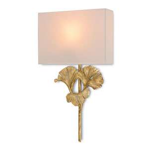 Gingko Antique Gold Leaf 14-Inch One-Light Fluorescent Wall Sconce