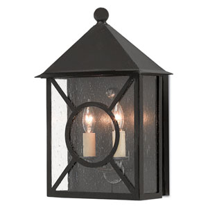 Ripley Pure Black Midnight Two-Light Outdoor Wall Sconce